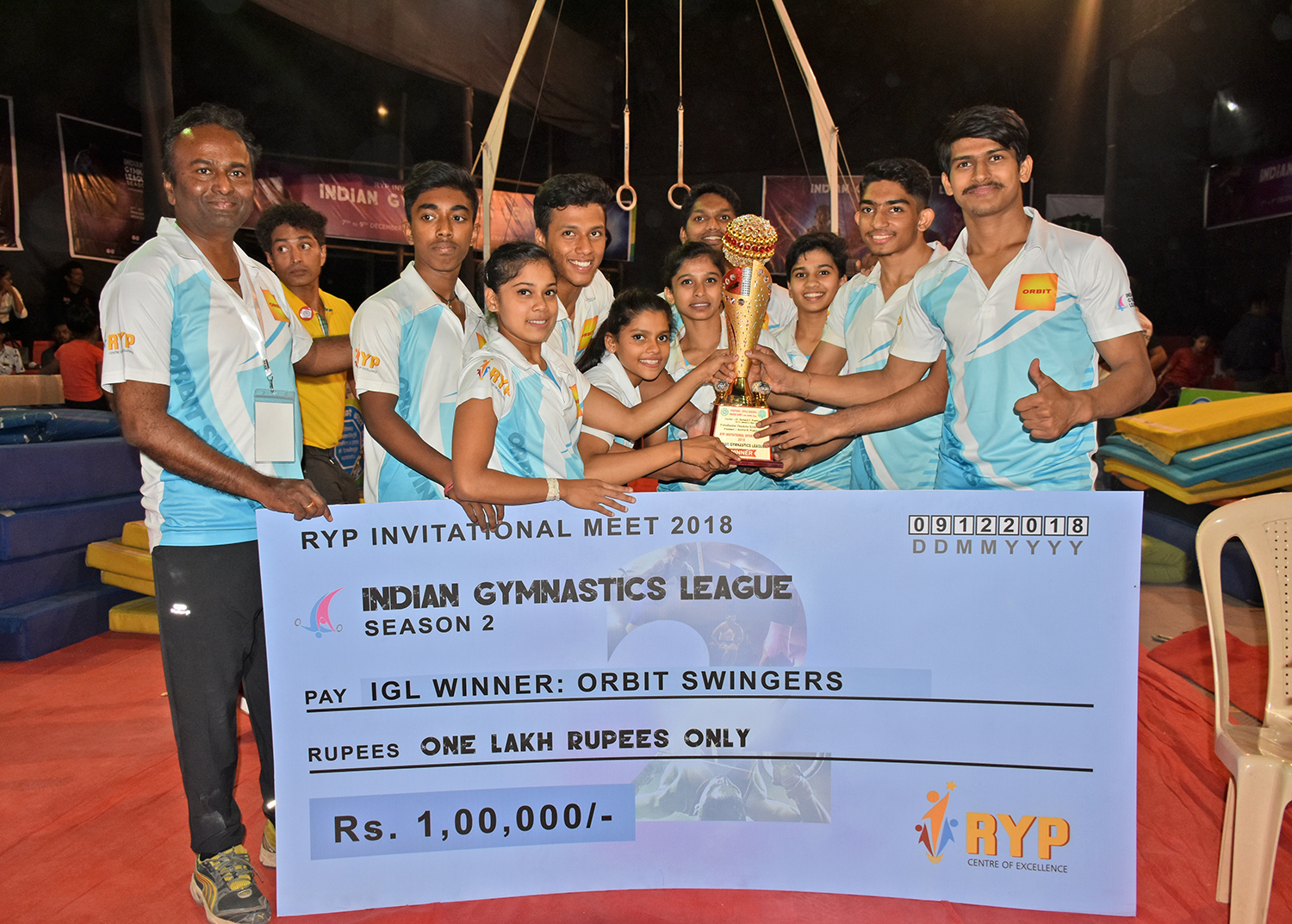 Orbit Swingers wins Season 02 of Indian Gymnastics League